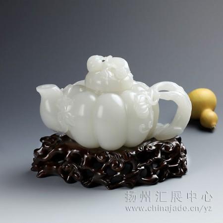 白玉-南瓜壶