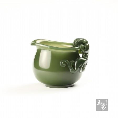 青玉-螭龍柄小水注