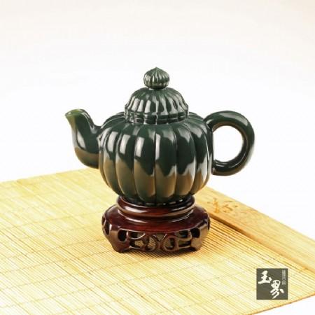青玉-瓜棱圓壺