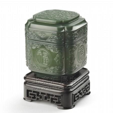 青玉-福祿壽喜香茗罐