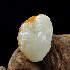 白玉籽料-庄周梦蝶