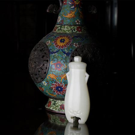 白玉籽料-长寿瓶