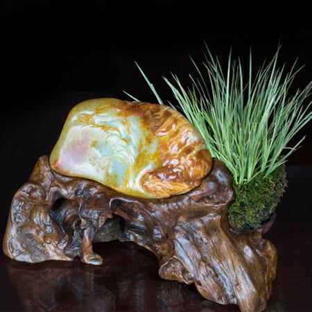 白玉籽料-秋风虎啸