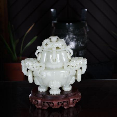 白玉籽料-海棠炉