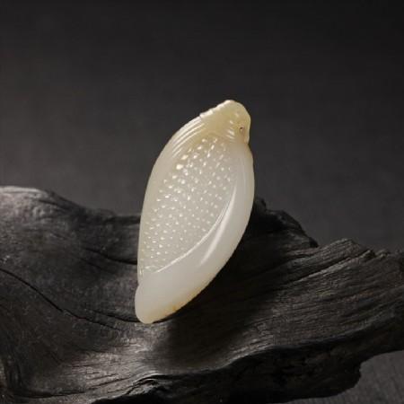 白玉子料挂件-小玉米
