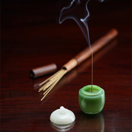 和田白玉&碧玉——沉香罐