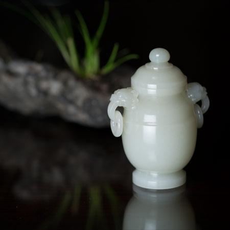 和田白玉籽料-双寿瓶