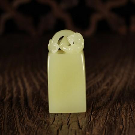 黃玉-螭龍印鈕