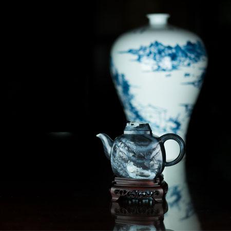 青花-高山流水壶