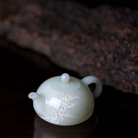 和田白玉-《茶壶》