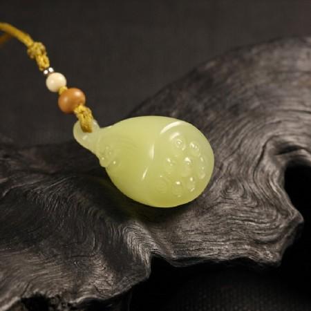黄玉挂件-多子多福