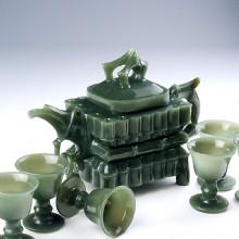 青玉-带杯套壶