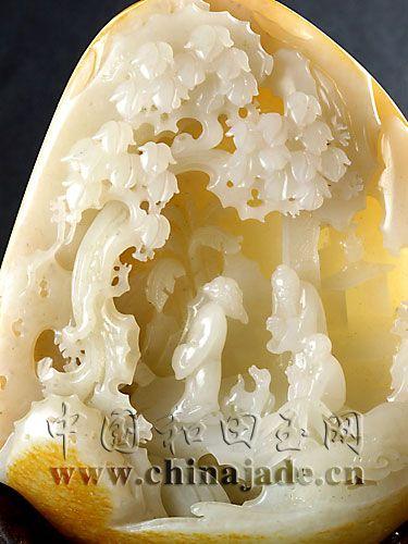 白玉籽料-访友图