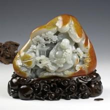 白玉籽料-弥勒佛山子(实价)