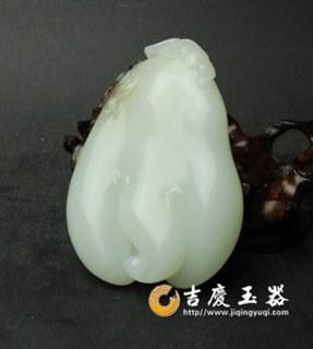 白玉籽玉-佛手 福寿如意