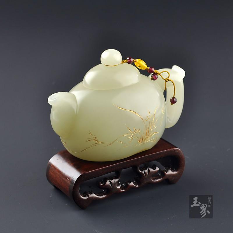 白玉籽料-把玩壶