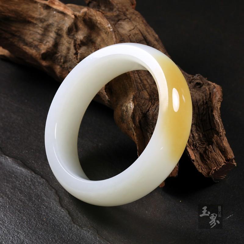 (糖)羊脂白玉-宽边手镯