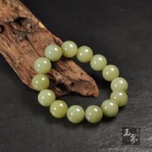 和田玉(黃口料)-圓珠手鏈