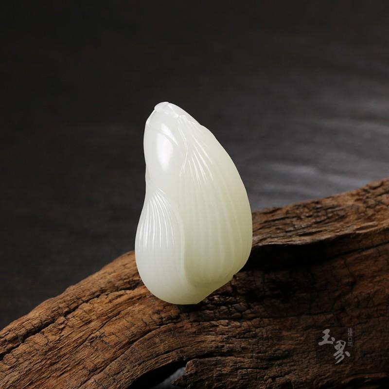 白玉子料挂件-节节高升