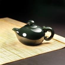 青玉-素面圆壶