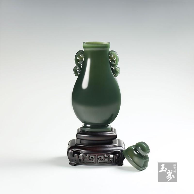 青玉-素面平安瓶