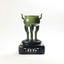 青玉-三足小圓爐