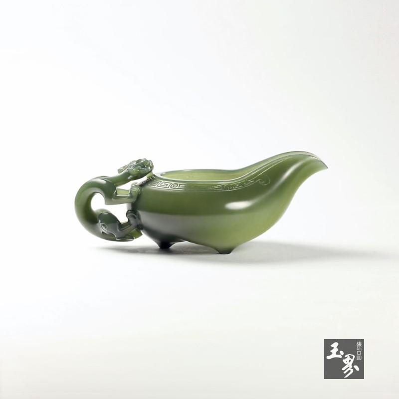 青玉-(把玩)螭龙匜