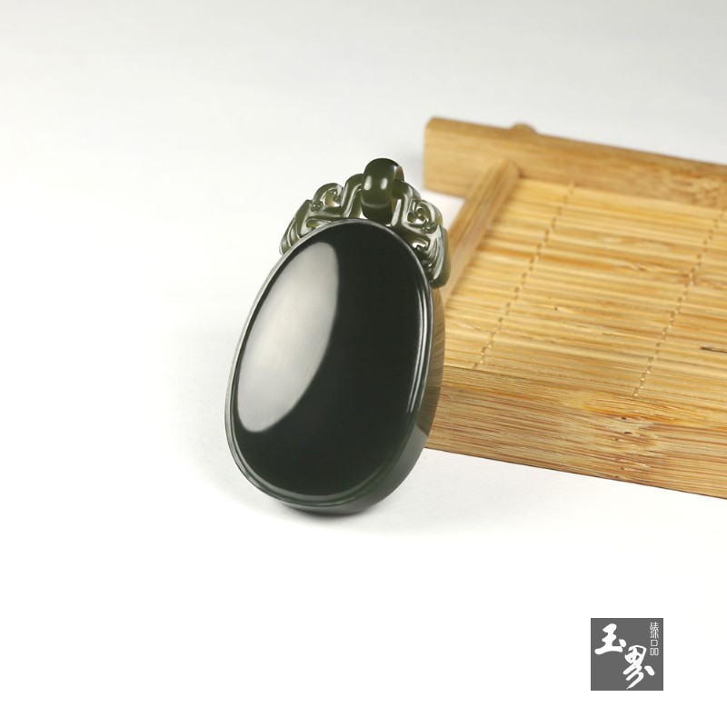 青玉子料-素面平安牌