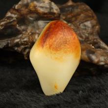 和田玉籽料 褐红皮 原石125g