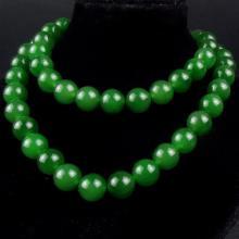 碧玉菠菜綠圓珠項鏈