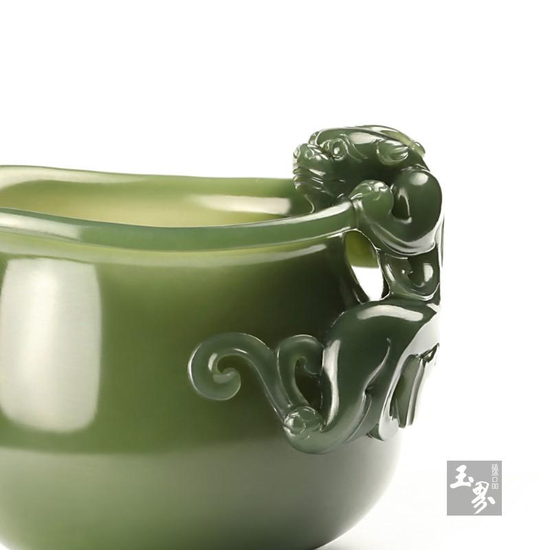 青玉-螭龙柄小水注-2