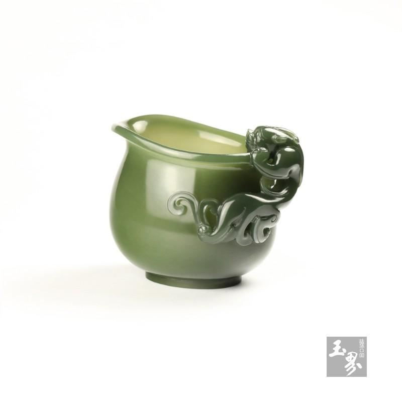 青玉-螭龙柄小水注-3