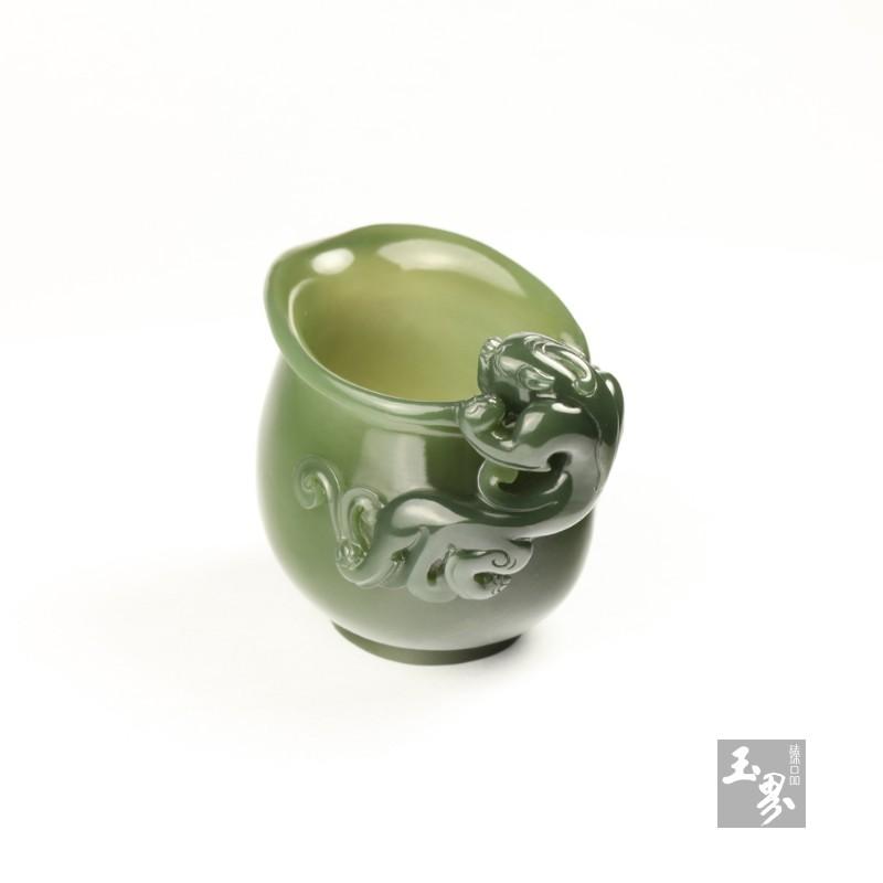 青玉-螭龙柄小水注-4
