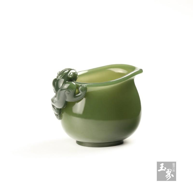 青玉-螭龙柄小水注-5