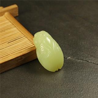 黄玉挂件-仿古蝉形佩
