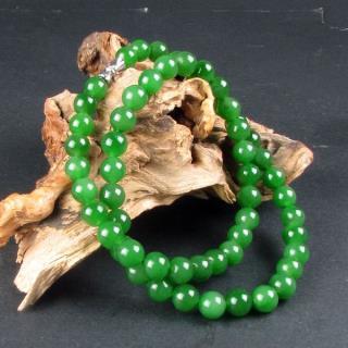 碧玉苹果绿圆珠项链
