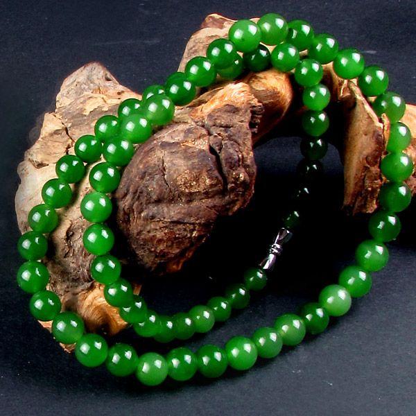 碧玉圆珠项链