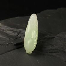 (翠青)白玉挂件-小玉米