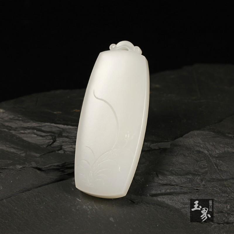 白玉-竹韵兰香牌