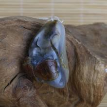 白玉籽料挂件 — 福寿双全