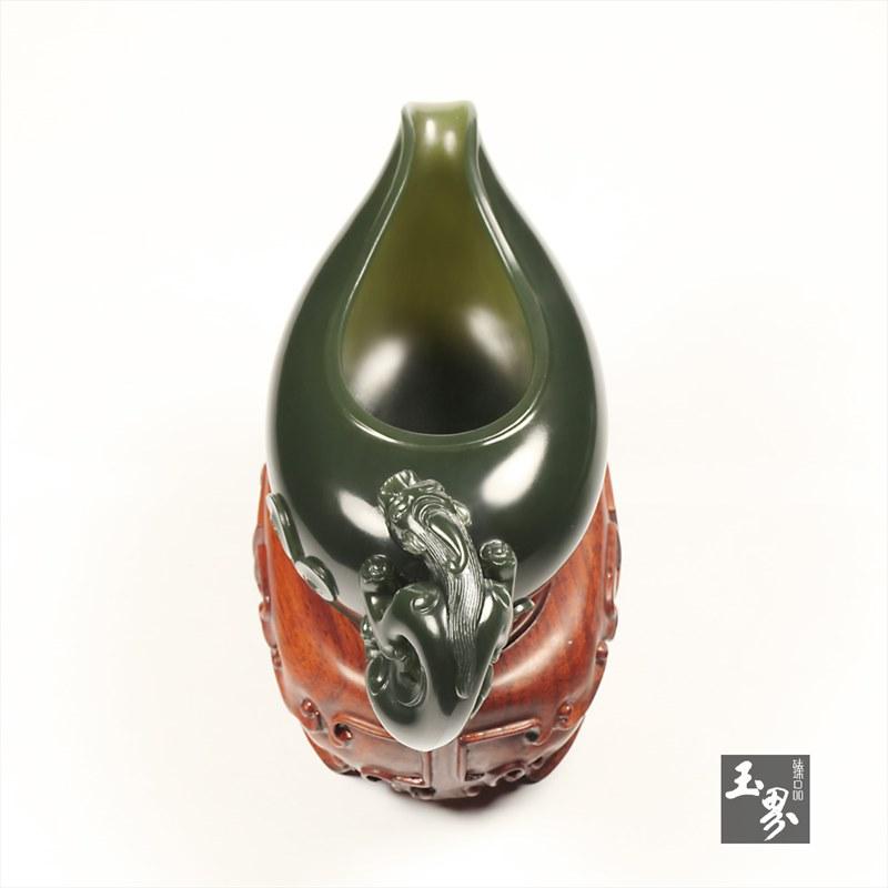 青玉-螭龙匜-7