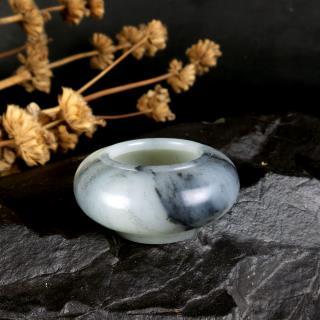 墨玉青花子料器皿-水盂