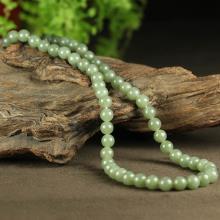青玉-圆珠项链