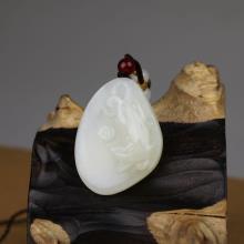 白玉挂件-生肖鼠