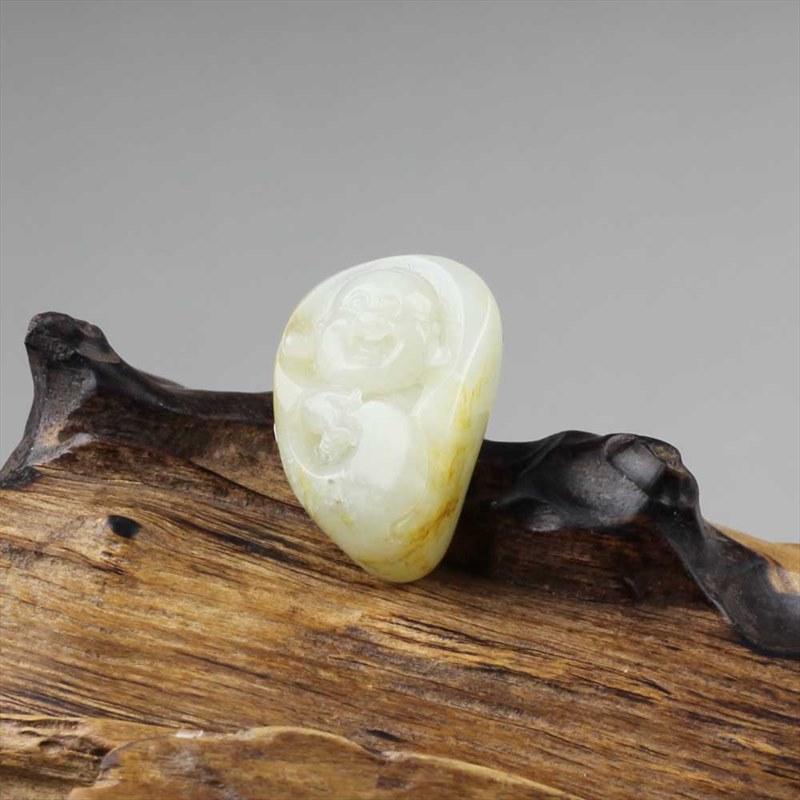 白玉籽料-佛