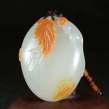 白玉籽料挂件 — 一夜封侯 67.588g