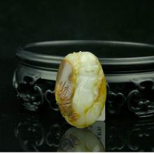 白玉籽料挂件-佛