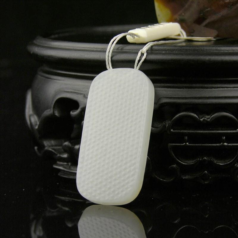 白玉籽料挂件-龙