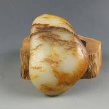 白玉枣红皮籽料-原石
