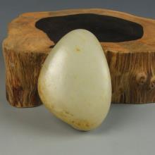 青白玉籽料-原石